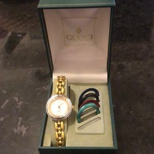 Gucci watch with 5 bezels